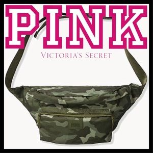 Used, PINK VICTORIA'S SECRET BELT BAG CAMONWT for sale